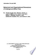 Behavioral and Organizational Dimensions of Underground Mine Fires Book PDF