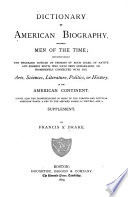 Dictionary Of American Biography Including Men Of The Time