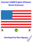 Essential 120000 English Afrikaans Words Dictionary