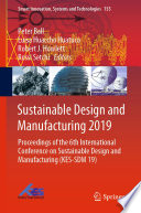 Sustainable Design and Manufacturing 2019 Book