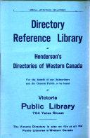Henderson s Victoria Directory Book PDF