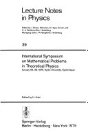 International Symposium on Mathematical Problems in Theoretical Physics