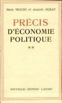 Pdf Precis D'Economie Politique 2 TOMES Par Henri Truchy et Auguste Murat Telecharger