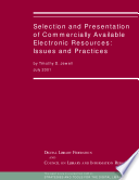 Selection and Presentation of Commercially Available Electronic Resources