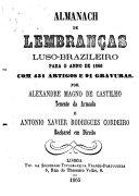 Almanach de lembranc̜as Luso-Brazileiro para o anno de ...