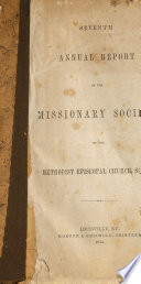 Annual Report of the Board of Missions of the M.E. Church, South