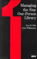 Managing The New One Person Library Book PDF