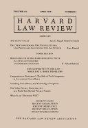 Harvard Law Review  Volume 131  Number 6   April 2018