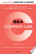 Concentrate Questions and Answers Company Law  : Law Q&a Revision and Study Guide
