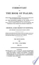 A Commentary on the Book of Psalms  Book