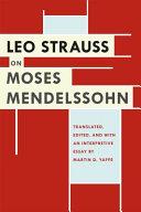 Leo Strauss on Moses Mendelssohn Pdf/ePub eBook