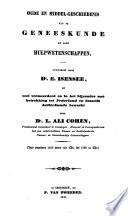 Oude En Middel Geschiedenis Van De Geneeskunde En Haar Hulpwetenschappen
