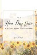 Hear My Voice Prayer Journal