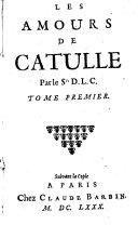 Les amours de Catulle