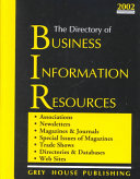 The Directory of Business Information Resources