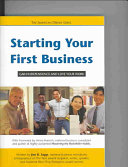 Starting Your First Business