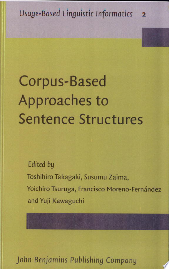 Corpus based Approaches to Sentence Structures
