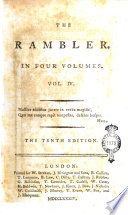 The Rambler In Four Volumes Volume The First Fourth