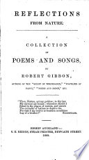 Reflections From Nature A Collection Of Poems And Songs