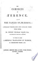 The Comedies of Terence and the Fables of Phaedrus Book
