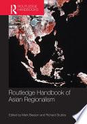 Routledge Handbook Of Asian Regionalism Book PDF