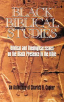 Black Biblical Studies Book