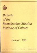 Bulletin of the Ramakrishna Mission Institute of Culture