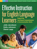 Effective Instruction For English Language Learners Book