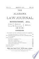 The Alabama Law Journal