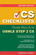 CS Checklists: Portable Review for the USMLE Step 2 CS, Second Edition
