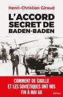 L Accord Secret De Baden Baden