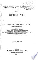 Errors of Speech and of Spelling Book PDF
