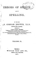 Pdf Errors of Speech and of Spelling
