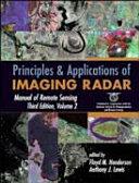 Manual of Remote Sensing  Principles and applications of imaging radar Book
