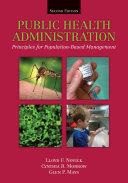 Public Health Administration Book