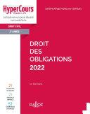 Pdf Droit des obligations 2022 - 14e ed. Telecharger