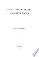 Intimations of Heaven and Other Poems
