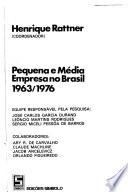 Pequena e média empresa no Brasil, 1963/1976