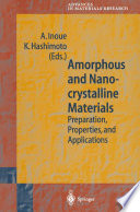 Amorphous and Nanocrystalline Materials
