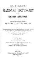 Nuttall s Standard Dictionary of the English Language