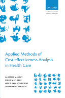 Applied Methods of Cost-effectiveness Analysis in Healthcare Pdf/ePub eBook