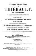 Oeuvres complètes de Thiébault,...