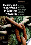 Security and Cooperation in Wireless Networks Book