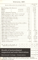 Pdf Results of Meteorological, Magnetical and Solar Observations