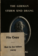 The German Sturm und Drang