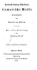 Friedrich Ludwig Schröder's Dramatische Werke