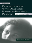 Psychotherapy With Deaf and Hard of Hearing Persons Pdf