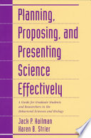 Planning  Proposing  and Presenting Science Effectively Book