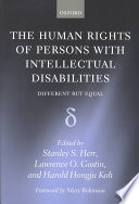 The Human Rights of Persons with Intellectual Disabilities Book