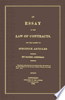 An Essay on the Law of Contracts